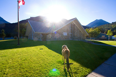 This is the LDS chapel in the Waterton townsite