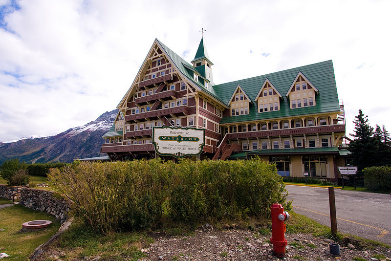 The Prince of Wales hotel.  Incidentally, the Galbraith cabin was built by the same men who built this magnificent hotel.