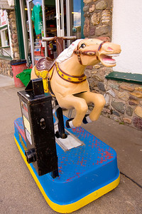 Old mechanical horse at the Waterton gas station.