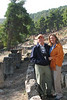 Mary Beth and Brian McAnaney '68 at the Doric 4th century B.C. shrine to the healing diety Amphiaraus