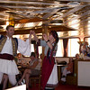 Traditional Greek dancing on the cruise ship.