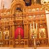 Inside the Church of Agios Nektarios.