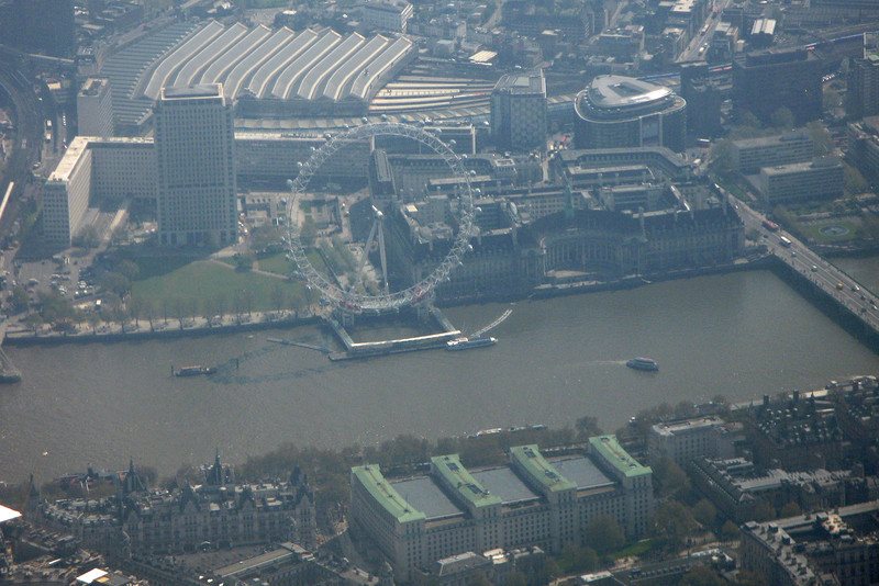 London Eye - on approach to Heathrow June 2011