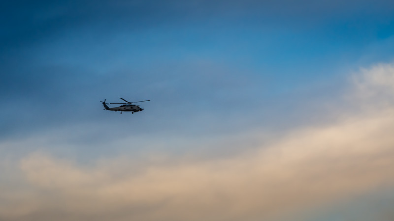 Helicopter Over RiverTown