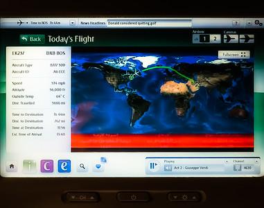 Today's Flight Dubai to Boston