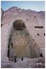 Taliban guarding Bamiyan ruins - 55 metres tall.
