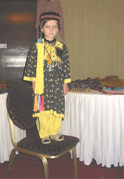 The Hotel was host to a merchant selling traditional clothing to tourists.
