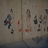 Instead of the standard graffiti found in most urban areas, here, the concrete walls are decorated with impressive stencil art.