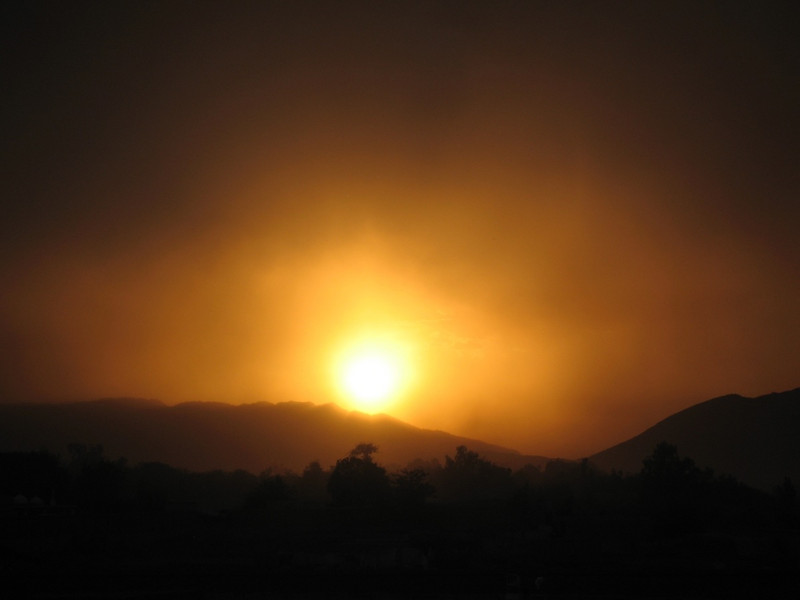 Sunset in Nangarhar, Afghanistan sometime in 2007