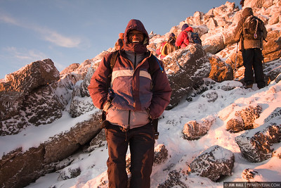 Abraham Lemu, one of the best Kili guides in all of Tanzania, Abraham is the one that is responsible for getting me as far up the mountain as I made it.