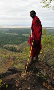 Maasai Warrior, Ngorongoro Crater