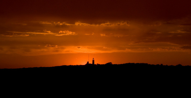 Sunset over Robben Island Lighthouse