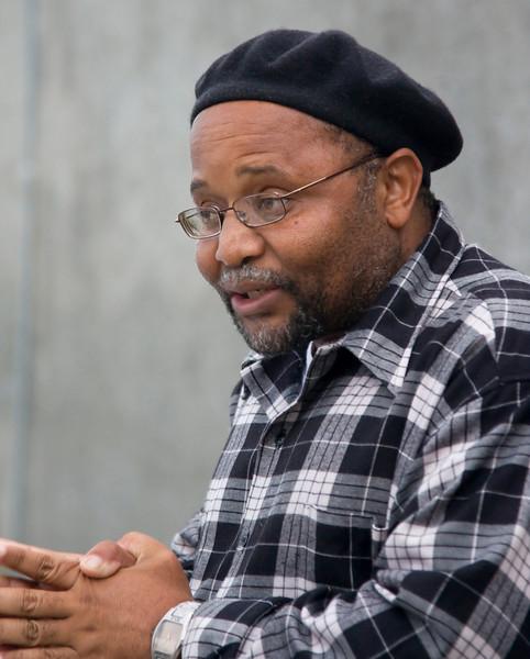 Former Robben Island political prisoner.  Current prison guide.