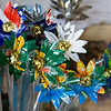 Flowers from tin cans, Khayelitsha Township