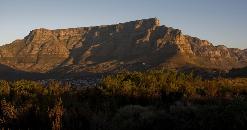 Table Mountain at sunset from Signal Hill