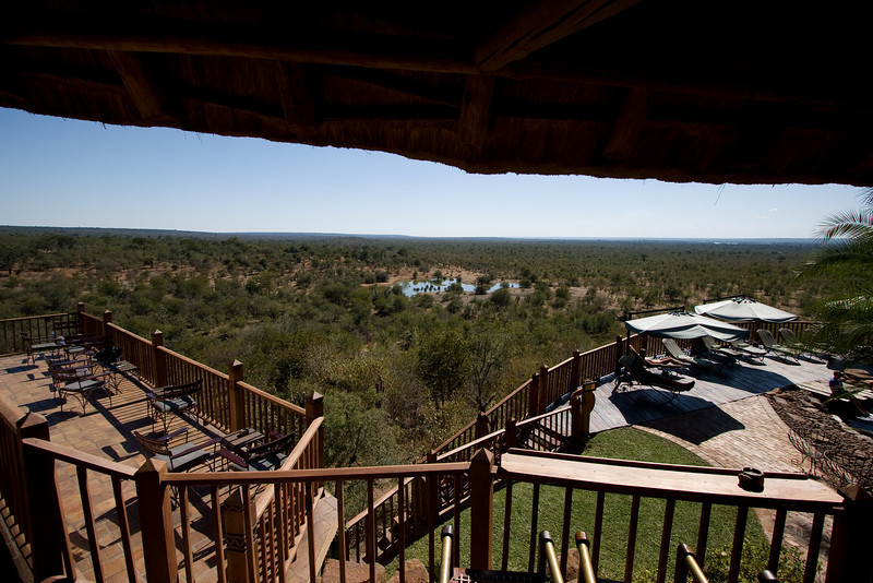 A view of the watering hole from the lodge