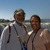 Mom and Karl at the falls