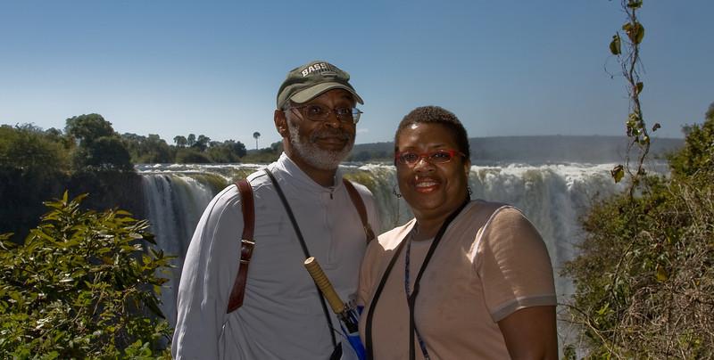 Mom and Karl at the falls