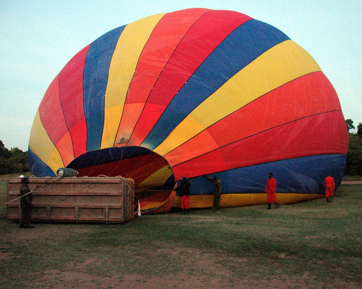 Morning balloon safari in Mara