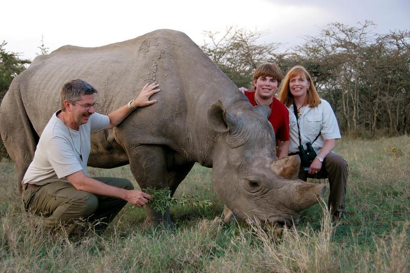 Morani the tame black rhino
