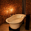 The tub in our cottage at Zuka.