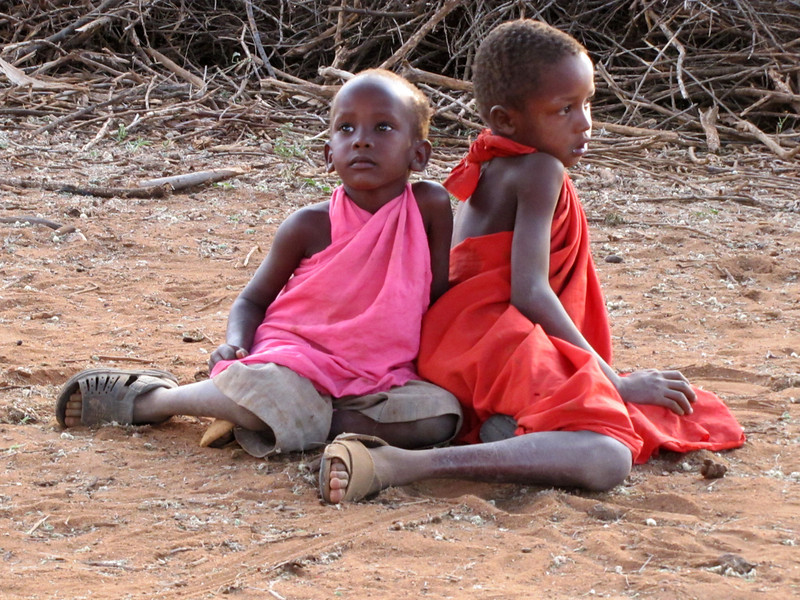 Children in Masai village