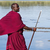 We took a walk down to the small lake, home to many birds and lots of hippos. As always, a Masai with a spear (and a cellphone on his belt) goes along