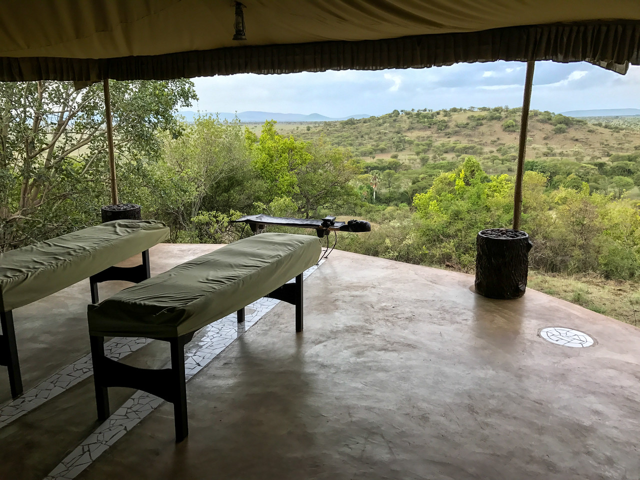 The spa at Mbalageti