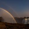 Moonbows over Victoria Falls, Zimbabwe
