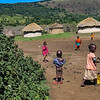 Maasai children playing in the village.