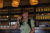 Caron enjoys a Masai Mara arrival drink