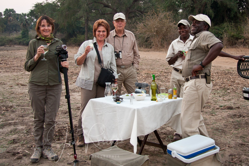 Our first Sundowners with a German couple Boaze and Cedrick