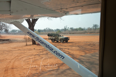 """My first glimpse of our """"vehicle,"""" as it is referred to on Safari."""