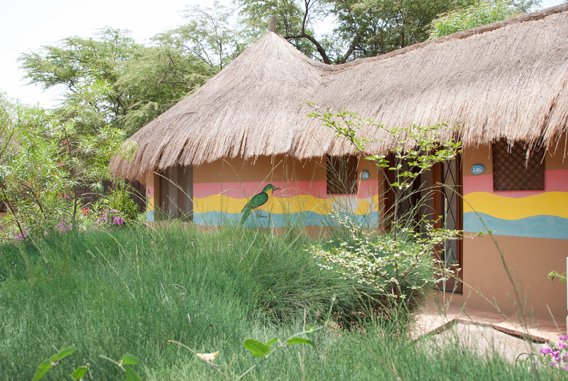Guest cottage in Bour Senegal, our first night's lodging in Africa