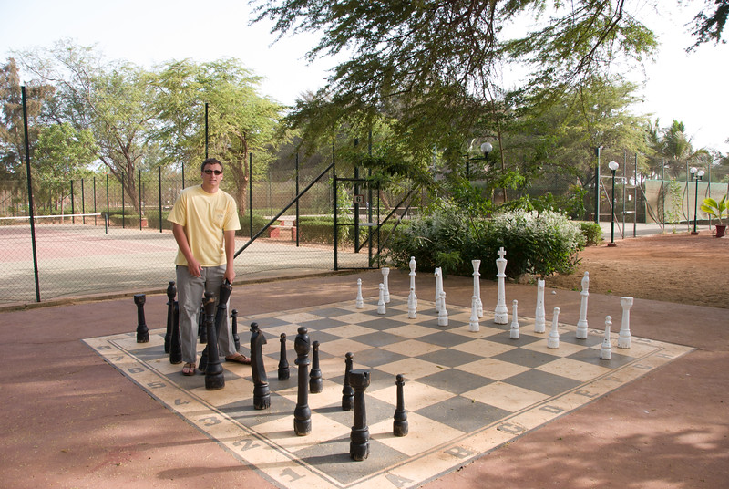 Ben on the chessboard in Bour