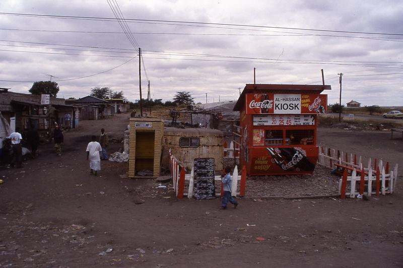 Food stall on the way to Amboseli National Park, Kenya.