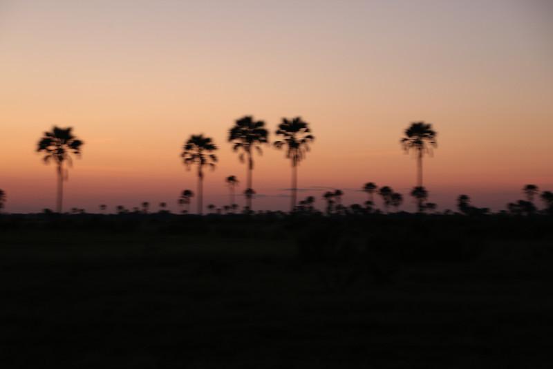 First sunset in Xigera