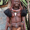 Himba women, including teen agers, wear their hair in a very unique style.