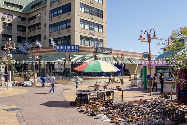 Windoek market wares in street