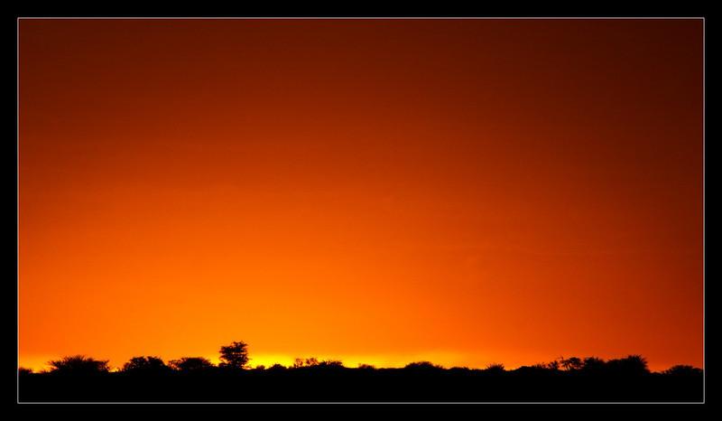 Kalahari Sunset, CKGR, Botswana, 2010