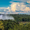 When the afternoon sun shines on the mist of the Falls, it often forms a rainbow.