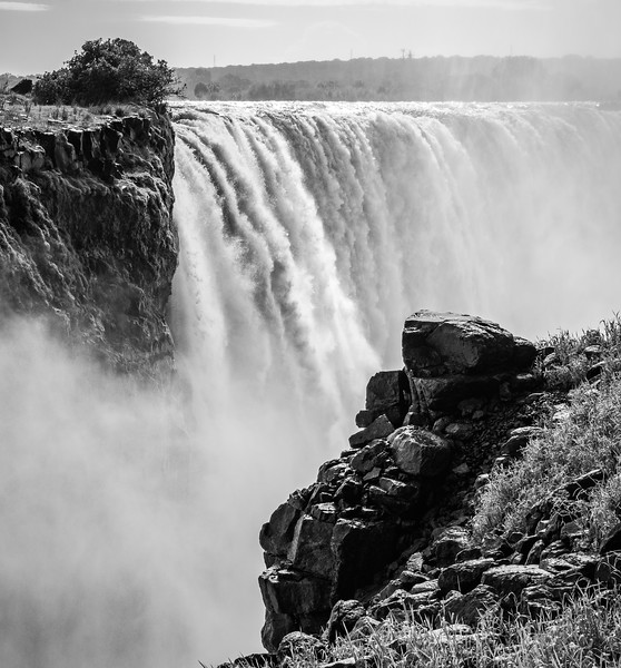 Imagine the power of the falls is so great that it carved out large rocks and landscapes as it created its own path.