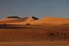 Along with amazing color and shape, the textures in the Namib are incredible, simultaneous with 100m high dunes are 1 cm ripples.