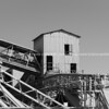 Old industriial structure in monochrome.