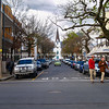 Christ church at end of street in Stellenbosch