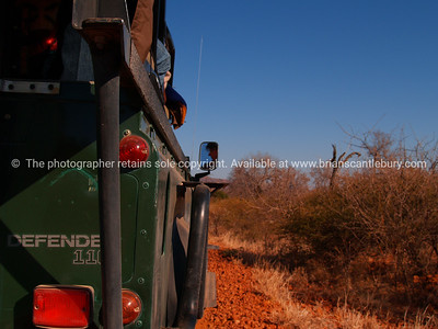 On safari, driving through the South African Bush. SEE ALSO: www.blurb.com/b/685976-africa