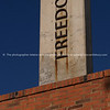 "Freedom, Vertical lettering on concrete pillar. A reminder of aparthied struggle. SEE ALSO:  <a href=""http://www.blurb.com/b/685976-africa"">http://www.blurb.com/b/685976-africa</a>"