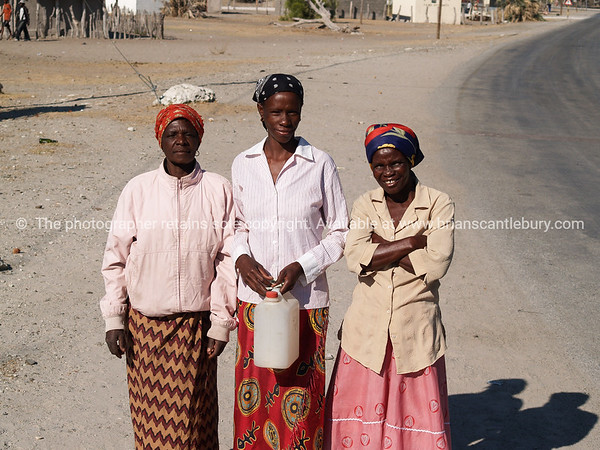 Small village and people of Gweta on the Makgadigadi Pans in Botswana