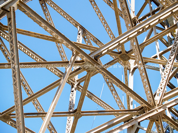 Criss-cross of structural steel framing