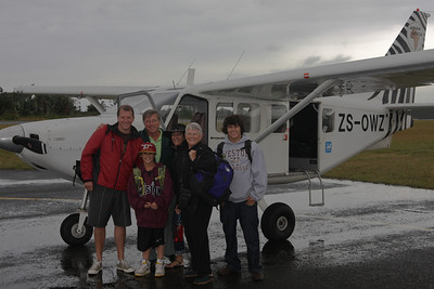 Before we take off for the bush.  Mom, Dad and the grand parent go in the old looking plane.